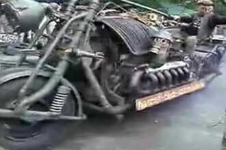 Das Panzerbike, motocicleta cu motor de tanc sovietic!