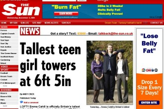 Cea mai inalta adolescenta din Marea Britanie! Are 16 ani si 1,98 metri!