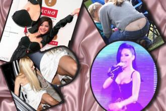 TOP 10 cele mai sexy accidente vestimentare! Chilotei si sutiene lipsa