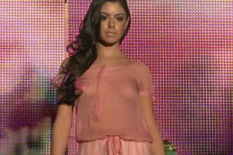 Natalia Mateut, cu sanii la vedere pe podium! VIDEO