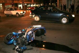 Un motociclist a fost omorat, pe loc, de o soferita, in Bucuresti