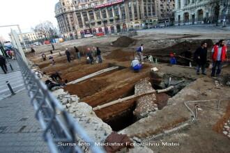 Lucrarile parcarii de la Universitate, blocate de ruine vechi de 300 de ani