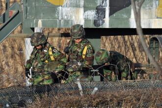 Explozii la granita dintre Corei! Doua proiectile lansate de Coreea de Nord