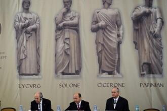 Basescu, pentru prima data la Ministerul Justitiei: