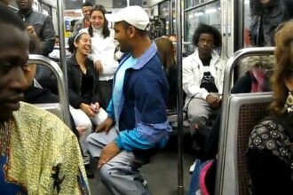 VIDEO. Doi tigani din Romania fac show pe hip-hop si manele, in metroul din Paris