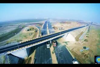 VIDEO. Autostrazile neterminate ale Romaniei, vazute din avion. Termenul de executie, peste o luna