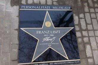 Pe Aleea Muzicienilor rasare inca o stea. Franz Liszt se alatura lui George Enescu si Bela Bartok