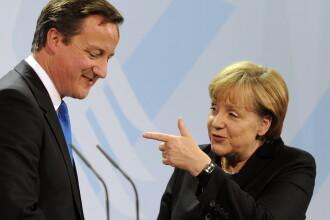 FT: Angela Merkel vrea sa-l ameninte pe David Cameron pentru pozitia acestuia privind bugetul UE