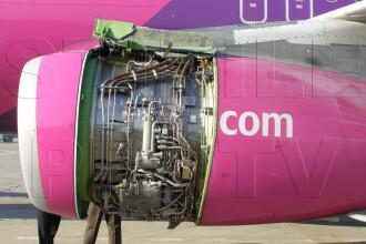 FOTO. Cum arata motorul avionului Wizz Air care a aterizat de urgenta pe Baneasa