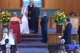 Un barbat complet dezbracat si-a facut aparitia la o nunta. Cum a reactionat mireasa. VIDEO