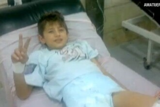 """Daca ma iubesti, sa nu plangi!"" Curajul unui baiat de 11 ani, ranit in bombardamentele din Siria"