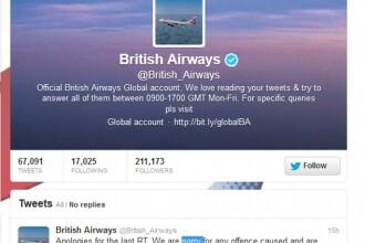 Gafa comisa de una din cele mai mari companii aeriene din lume. Ce a scris pe contul sau de Twitter