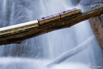 """Galerie FOTO. """"Calatoriile trenului fantoma prin Canada"""". O iluzie optica incredibila"""