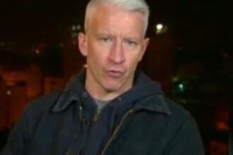 Explozie puternica in Fasia Gaza, in timp ce Anderson Cooper transmitea LIVE pentru CNN. Video