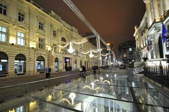Centrul vechi al Capitalei, luminat ca la Viena. GALERIE FOTO