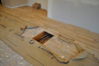 Descoperirea facuta de un muncitor in podeaua unei case. Proprietarii au trait un soc