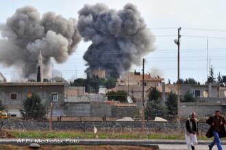 Un avion sirian a bombardat un sat in apropiere de frontiera cu Turcia. Nu s-au inregistrat victime