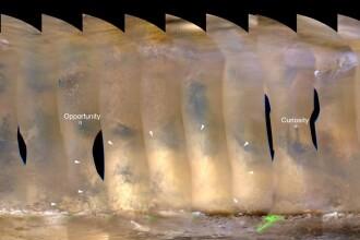 NASA monitorizeaza o uriasa furtuna de praf pe Marte. FOTO