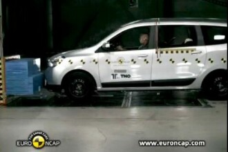 Dacia la ultimul crash test. Cat de sigur este noul model si cum s-a descurcat concurenta. Video