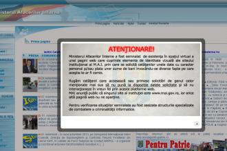 Romanii, avertizati de MAI de existenta unui site clona prin care li se cere bani si date personale
