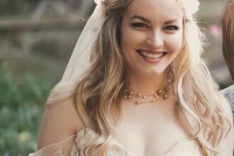 Parintii ei nu au fost de acord cu partenerul ales si nu au venit la nunta. Cum arata mirele. FOTO