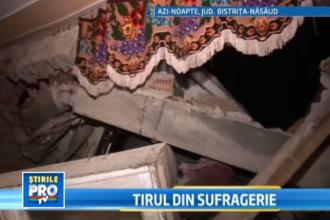 Accident bizar in Bistrita-Nasaud. Un TIR cu 14 tone de carne a intrat intr-o casa