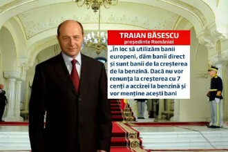 Traian Basescu: Daca legea bugetului de stat ramane asa, o retrimit in Parlament. Sunt bani furati
