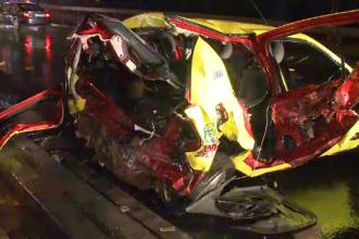 Accident intre doua taxiuri pe DN1. O femeie din Olanda este in stare grava