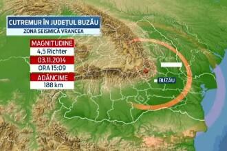 Un cutremur cu magnitudinea de 4,5 a avut loc in Vrancea
