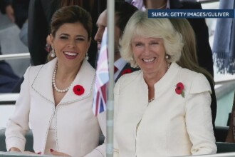 Moment jenant in timpul unei vizite oficiale. Ducesa de Cornwall, imbracata la fel ca sotia unui guvernator din Mexic