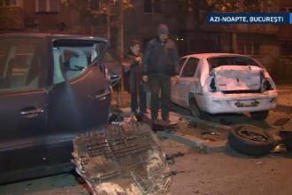 Noua masini distruse dupa un accident, in Capitala. Misterul pe care trebuie sa-l desluseasca Politia
