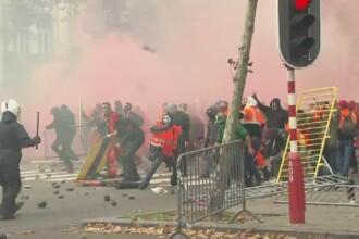 Cel putin 50 de raniti si 30 de oameni arestati, in urma protestelor din Belgia. 100.000 de oameni au iesit in strada