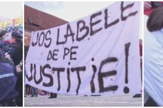 YES LA VOT. Acuzatii de brutalitate nejustificata la Brasov, dupa un miting pentru alegeri corecte. Raspunsul Jandarmeriei