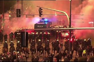 Incidente violente in Polonia. Sute de manifestanti s-au luat la bataie cu fortele de ordine, de Ziua Independentei