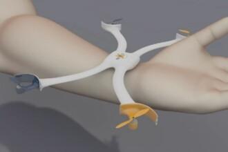 ANIMATIE GRAFICA. Camera drona care se poarta ca bratara, isi ia zborul si iti face selfie-uri. Cand ar putea ajunge pe piata