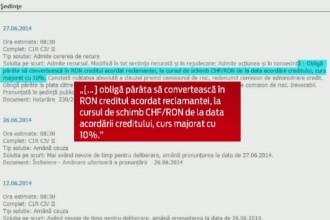 Decizie istorica. O clienta din Galati a bancii Volksbank a obtinut in instanta schimbarea creditului din franci, in lei
