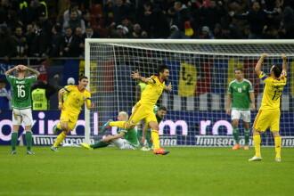 Romania a invins Irlanda de Nord cu 2-0, in cadrul calificarilor pentru Euro 2016. Tricolorii au devenit liderii Grupei F