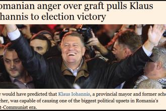 Analiza Financial Times: Furia romanilor fata de coruptie a condus la victoria lui Iohannis