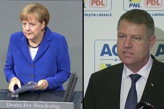 Mesajul Angelei Merkel pentru Klaus Iohannis, dupa castigarea alegerilor: