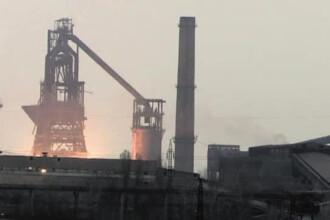 Explozie la combinatul siderurgic de la Galati. Un furnal a fost complet distrus. VIDEO