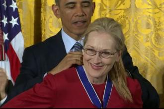 Meryl Streep a primit de la Barack Obama Medalia libertatii, cea mai inalta distinctie civila americana