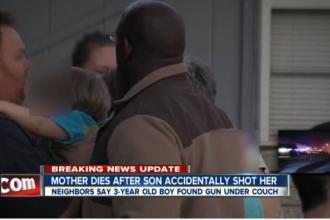 Tragedie in SUA. O femeie a murit impuscata in cap de fiul ei de numai trei ani