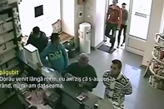 Au furat 5.000 de lei din buzunarul unui om aflat intr-o farmacie. Camerele de supraveghere au surprins intreaga
