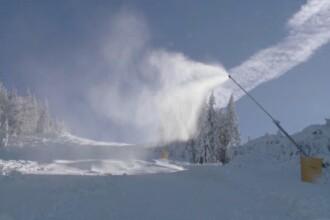 Peisaj de iarna autentica, la munte. LISTA partiilor deschise pentru iubitorii sporturilor de iarna si a preturilor de sezon