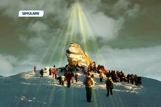 Surpriza neplacuta pentru turistii care au mers la munte sa vada o piramida energetica desupra Sfinxului. Nu li s-a