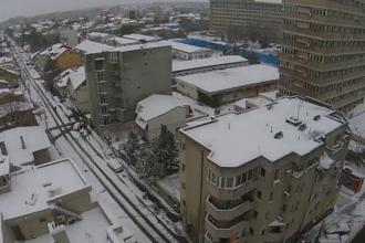 Orasul Constanta, acoperit de stratul de zapada cazut sambata spre duminica. Imaginile surprinse cu o DRONA. VIDEO