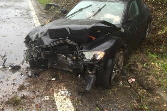 Si-a filmat propriul accident, suferit pe autostrada. Ce s-a intamplat cu soferul. VIDEO