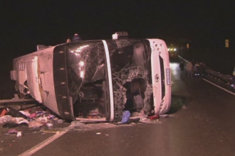 Grav accident de circulatie in Rusia. Noua oameni au murit, iar 48 au fost raniti dupa ce un autocar s-a rasturnat