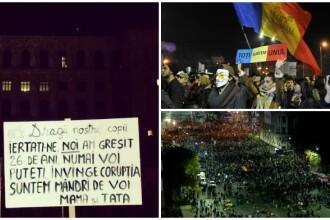CORUPTIA UCIDE: Peste 35.000 de oameni au ocupat strazile Capitalei. Proteste de amploare au avut loc in toata tara