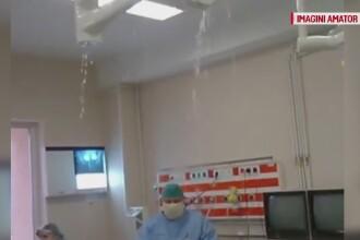 Medicii din Botosani s-au trezit ca le ploua in sala de operatie, in timp ce aveau o pacienta pe masa